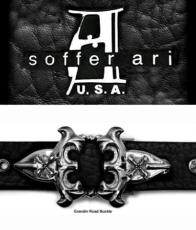 トップ式バックル silver925 バックル金具 グランディン ロード S.A. Soffer Ari ソファーアリ 【 メンズ ベルト シルバー製 USAバックル レザーベルト 本革ベルト 海外製 アメリカ製 輸入バックル 正規品 おしゃれ 注クロムハーツではありません 】