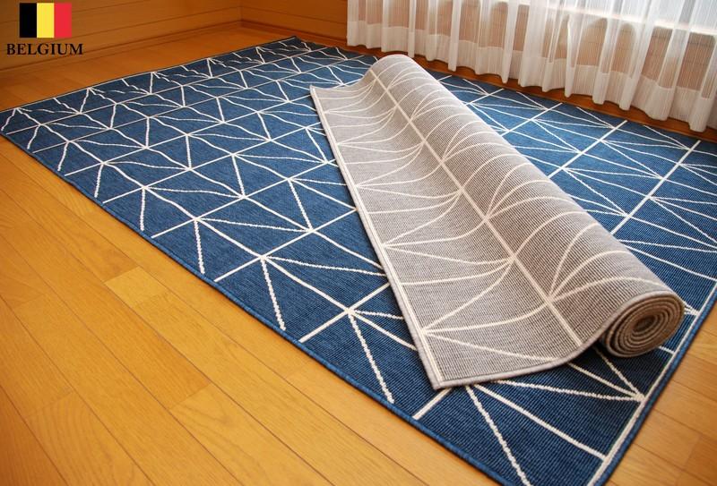 ベルギー製 3帖 160×230 デザイナーズモダン 高密ループパイル ウィルトン織 じゅうたん ホットカーペットカバー対応 約160×230