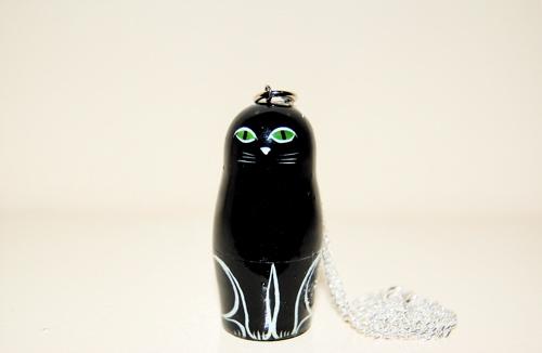 ネックレス 黒猫【マトリョーシカ】