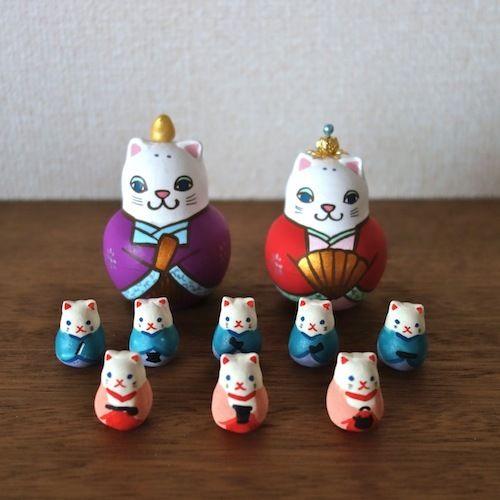 おすすめネット KIMURA&Co.手作りマトリョーシカ 在庫あり Hinadoll』7.5cm!即納『猫雛 Cat Hinadoll』7.5cm Cat 陶器人形8個入り【マトリョーシカ】, 楽しむ生活倶楽部:8c9e31d7 --- canoncity.azurewebsites.net