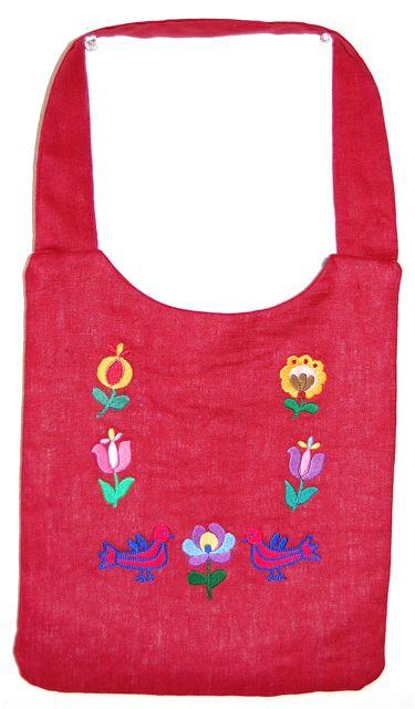ハンガリー刺繍柄 ショルダー 注文後の変更キャンセル返品 リネン ハンガリー刺繍柄バッグ color:レッド 物品 民族衣装を着るバッグBahar
