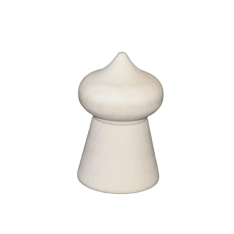 工作に最適!白木の置物 たまねぎ型 単体5.5cm おもしろい形の白木材料【マトリョーシカ】