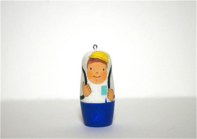ほんのり にっこり 世界の人気ブランド 稲葉尚子マトリョーシカ 春の新作続々 男の子キーホルダー 新一年生