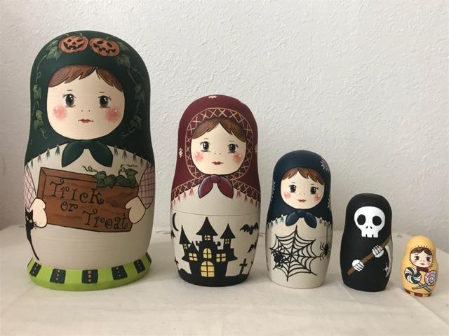 Little Lotte マトリョーシカ「Trick or Treat マトちゃん」15.5センチ5個組タイプ【マトリョーシカ】