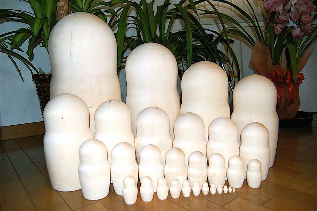 白木のマトリョーシカ 30個組超特大サイズ送料無料
