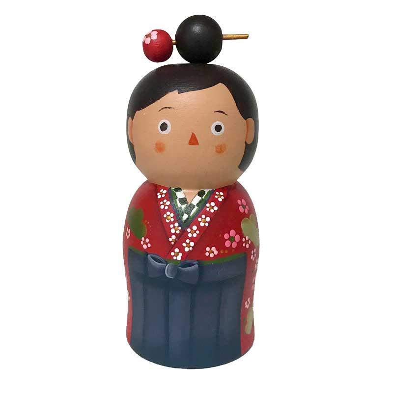 マトリョーシカ 袴 卒業式 セール 登場から人気沸騰 記念品 かわいい ギフト 単体 Rika-BE 11cm 人形 保証 マトリョーシカマトこけし型 袴女子