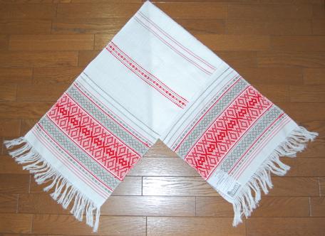 ロシアの伝統工芸品 テーブルランナー 売り込み 長いタイプ:128cm×34cm 出群