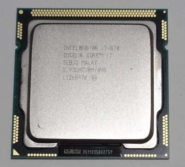 中古 Core i7 870 開店祝い 2.93GHz 8M SLBJG LGA1156 当店限定販売