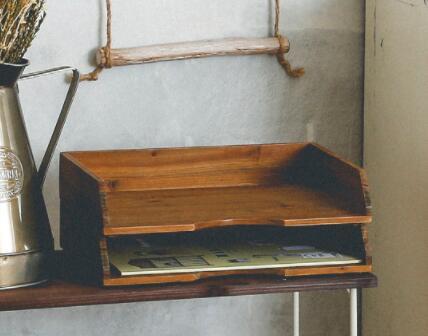 シンプルデザインなのでお部屋のインテリアにも ペーパートレイ ウッドボックス ランキングTOP5 A4 用紙 整理 収納 書類 2020 新作 お便り スタッキング デスク リビング おしゃれ 小物 便利 アビテ インテリア シンプル 木箱