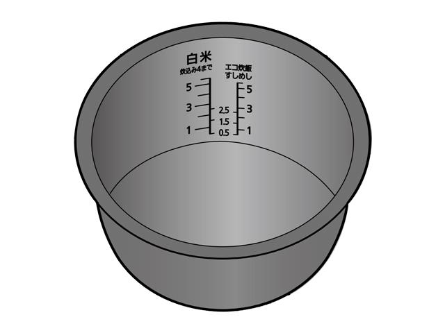 パナソニック 炊飯器用内なべ(内釜)「大火力銅釜」 ARE50-D87