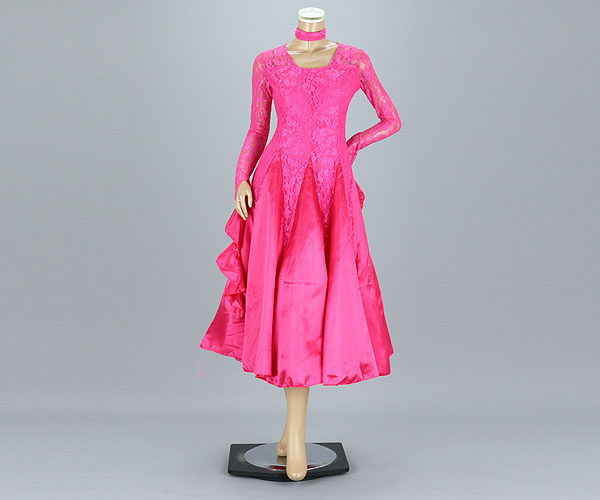 社交ダンス/社交ダンス衣装/衣装/社交ダンスドレス/ドレス/ウェア/ダンスウェア/フリーサイズ/ピンク