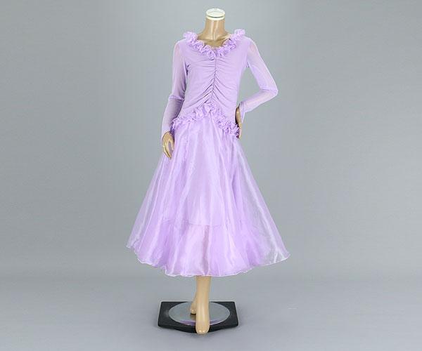 社交ダンス/社交ダンス衣装/衣装/社交ダンスドレス/ドレス/ウェア/ダンスウェア/フリーサイズ/ライトパープル