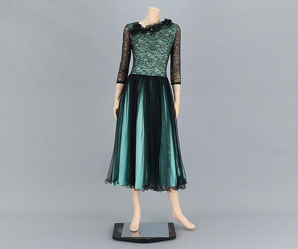 社交ダンス/社交ダンス衣装/衣装/社交ダンスドレス/ドレス/ウェア/ダンスウェア/フリーサイズ/エメラルドグリーン