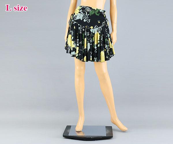 通販 激安◆ SALE10%OFF 大人気 Lサイズ☆キュートなプリントミディアムスカート~B GF-9003-kL 社交ダンス 社交ダンス衣装 衣装 ブラック Lサイズ 黒 スカート ダンスウェア ウェア パンツ