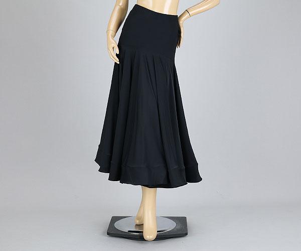 社交ダンス/社交ダンス衣装/衣装/スカート/ウェア/ダンスウェア/Mサイズ /ブラック