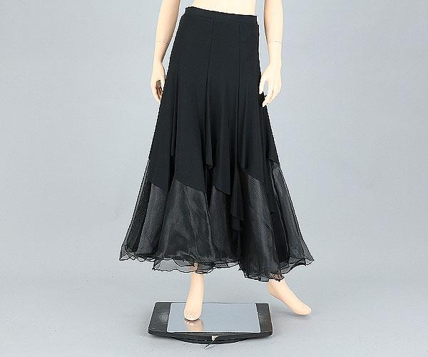 社交ダンス/社交ダンス衣装/衣装/スカート/ウェア/ダンスウェア/Mサイズ /ブラック 黒