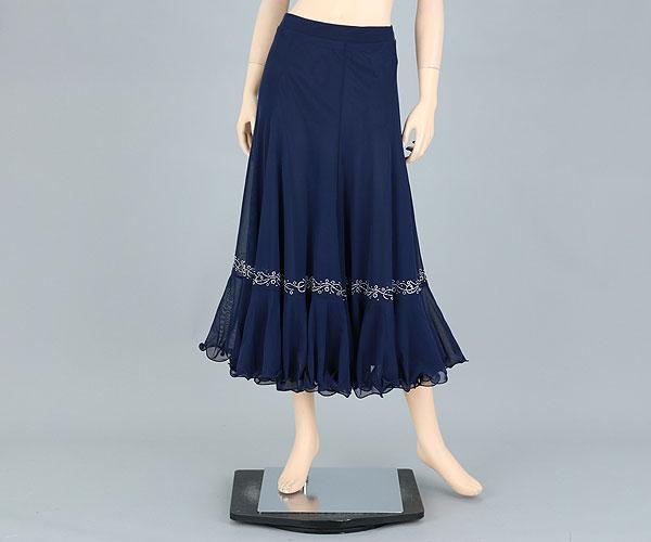 社交ダンス/社交ダンス衣装/衣装/スカート/ウェア/ダンスウェア/フリーサイズ/紺