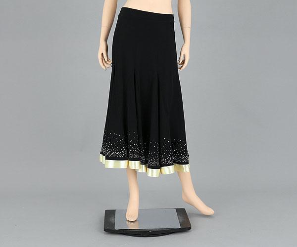 社交ダンス/社交ダンス衣装/衣装/スカート/ウェア/ダンスウェア/フリーサイズ/ブラック/ゴールド 黒金