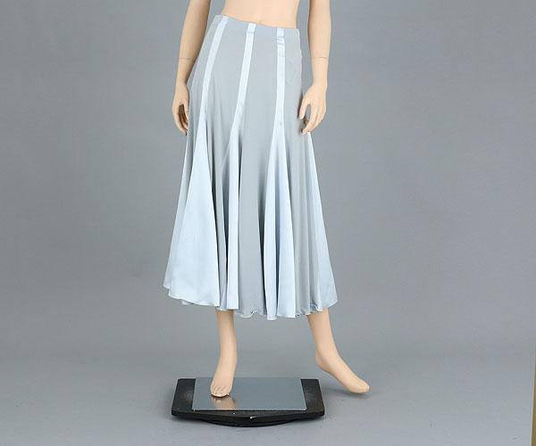 社交ダンス/社交ダンス衣装/衣装/スカート/ウェア/ダンスウェア/フリーサイズ/グレー(サテン部分はやや青みがかってます)
