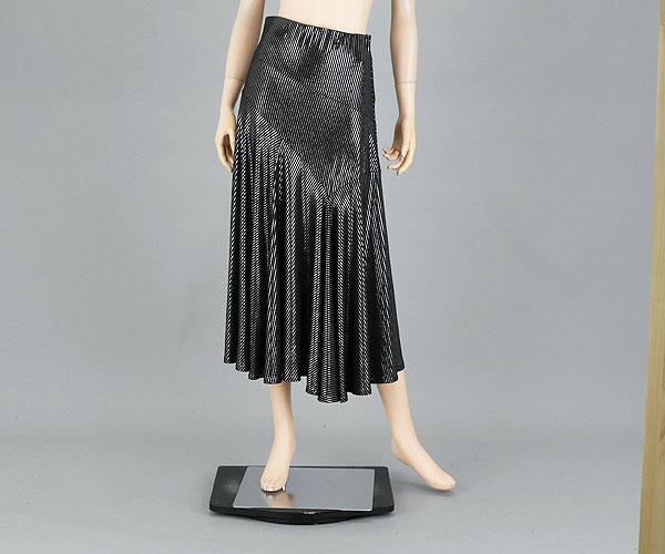 社交ダンス/社交ダンス衣装/衣装/スカート/ウェア/ダンスウェア/M~Lサイズ/ブラック/シルバー 黒銀