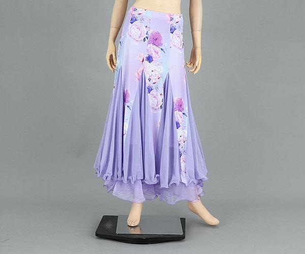 社交ダンス/社交ダンス衣装/衣装/スカート/ウェア/ダンスウェア/フリーサイズ/ライトパープル 紫