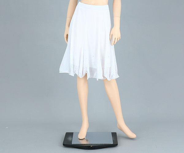 社交ダンス/社交ダンス衣装/衣装/スカート/ウェア/ダンスウェア/Mサイズ/ホワイト 白