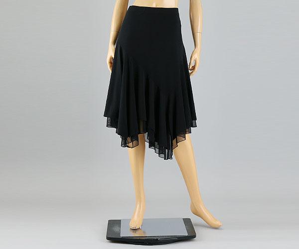 NEW 高品質 社交ダンス☆キュートなシンプルミディアムスカート RTK002-0018-k セール特価 社交ダンス 激安 社交ダンス衣装 衣装 ダンスウェア スカート 黒 ウェア M-Lサイズ ブラック