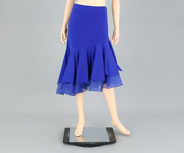 社交ダンス/社交ダンス衣装/衣装/スカート/ウェア/ダンスウェア/M~Lサイズ/ブルー