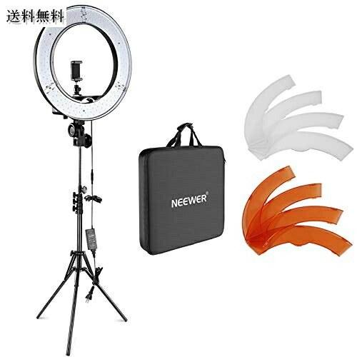 Neewer 18インチLEDリングライト 55W 5500 5500K 調光可能 省エネSMD LED 即納最大半額 生放送 ライトスタンド ソフトチューブ付属 tiktok動画撮影用 自撮り 国際ブランド カメラ写真ビデオ用照明セット メイクアップ YouTube