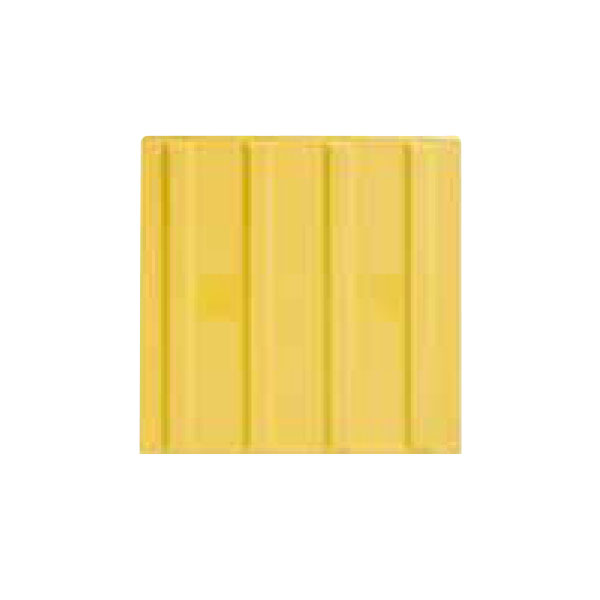 【20枚セット】エコ点字パネル(再生エラストマー樹脂使用) ラインタイプ 300角 黄 アラオ AR-0890