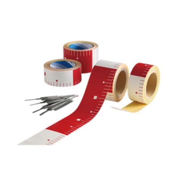 テープロッド 50m×25m巻 赤/白30cm 10巻セット 土木資材 アラオ AR-3343