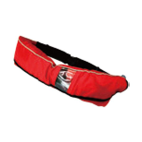 膨張式救命胴衣 ウエストタイプ レッド 水感知機能/ホイッスル付 3617-WR