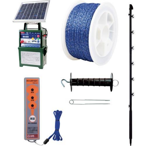 品質は非常に良い 獣害対策 電気柵100Mセット 品番:6300004479 グリーンクロス, クロイシシ d9ecd7fa
