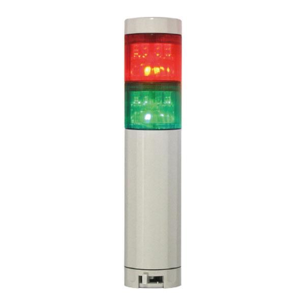 LED積層灯 ニコタワープリズム 単色発光 回転 ブザーあり ポール 壁面取付ブラケット NIKKEI 海外輸入 VT04Z型 VT04Z-100K2 好評 P3 2段 日恵製作所