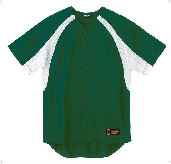 DESCENTE (デサント) ユニフォームシャツ カラーコンビネーション DB48M DGRN 1611 野球 ソフトボール Tシャツ