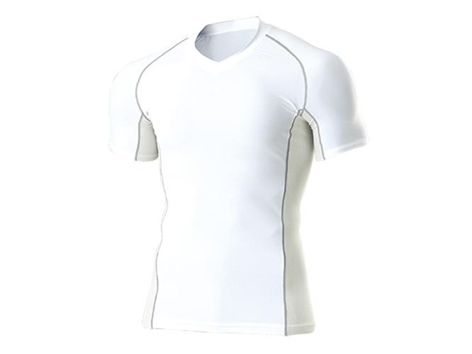 ■WUNDOUのウェア WUNDOU ウンドウ Vネックインナーシャツ 半袖 ホワイト 買収 人気商品 P-7030J 子供 ウェア 1710 子ども キッズ ジュニア オールスポーツ