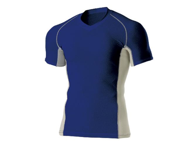 ■WUNDOUのウェア WUNDOU ウンドウ Vネックインナーシャツ 半袖 ネイビー P-7030J ウェア ジュニア 情熱セール 子ども 1710 ブランド品 キッズ オールスポーツ 子供