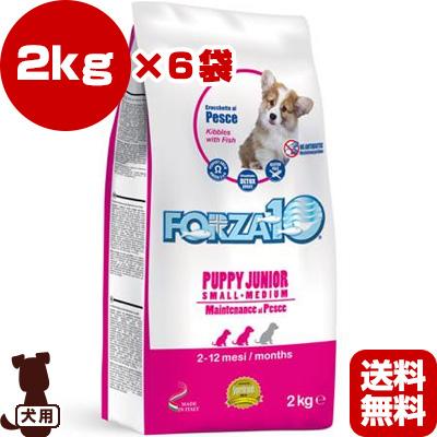 送料無料・同梱可 ◇FORZA10 パピージュニア フィッシュ 2kg×6袋 SANYpet ▽b ペット フード 犬 ドッグ 子犬用
