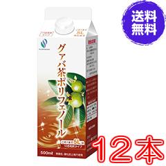 【送料無料】グァバ茶ポリフェノール500ml×超お得12本セット【代引き料無料】《飲みやすい、簡単、ダイエット、糖、加齢臭、シミ・くすみ》