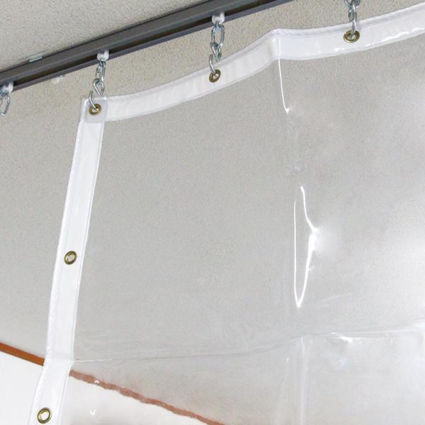ビニールカーテン 【一般透明0.5mm】 厚み0.5mm×幅315-350cm×高さ180-200cm
