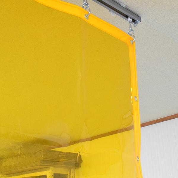 買得 店 厚み0.5mm×幅400-460cm×高さ180-200cm:ルリカ 【防虫フラーレ】 ビニールカーテン-DIY・工具
