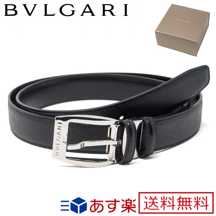 764693af53d4 ブルガリ ベルト エリプス ELLIPSE ブラック 23384 【BVLGARI メンズ シルバー バックル ブランド 送料無料 正規品 。