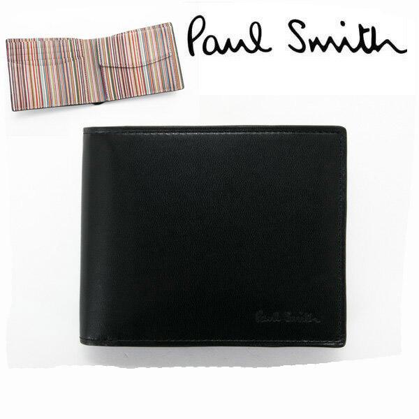 ポールスミス 財布 二つ折り 小銭入れあり サイフ 【Paul Smith メンズ レディース ブランド 送料無料 正規品 新品 2019年 ギフト プレゼント】 P074