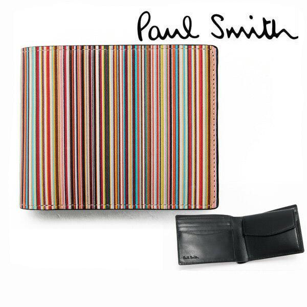 ポールスミス 財布 二つ折り 小銭入れあり 【Paul Smith メンズ レディース ブランド 送料無料 正規品 新品 2018年 ギフト プレゼント】 P084