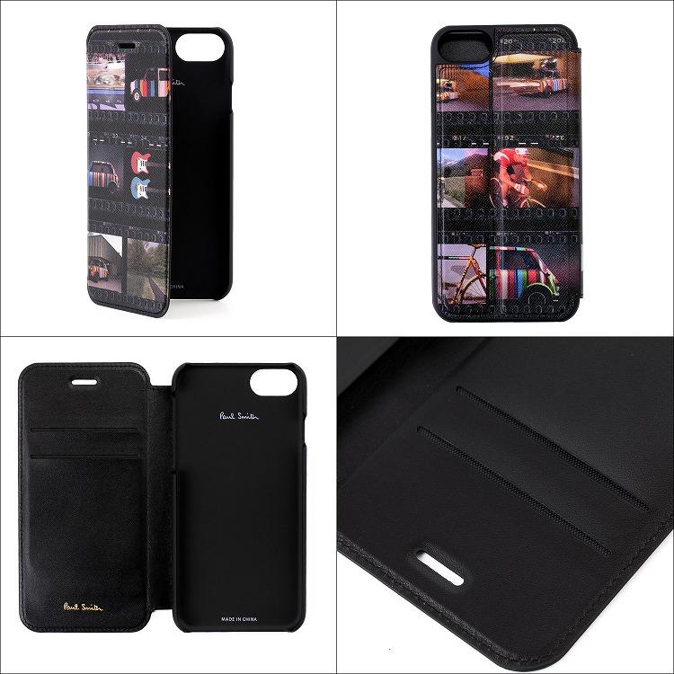 ポールスミス iPhone ケース iPhone8 カバー アイフォン スマートフォン 手帳型 革 レザー 名入れ モバイルケース【Paul Smith メンズ レディース ブランド おしゃれ かわいい 正規品 新品 2019年  ギフト プレゼント】 M1A 5818 A40284