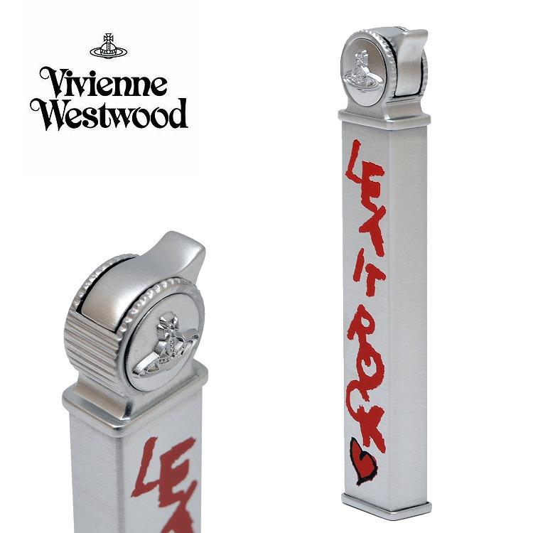 ヴィヴィアンウエストウッド ヴィヴィアン ライター ガスライター LET IT ROCK スリムライター 電子式 喫煙具 【Vivienne Westwood メンズ レディース おしゃれ かわいい 送料無料 ブランド 正規品 新品 2018年 ギフト プレゼント】1118371-1-F [S]