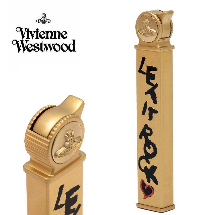 ヴィヴィアンウエストウッド ヴィヴィアン ライター ガスライター LET IT ROCK スリムライター 喫煙具 【Vivienne Westwood メンズ レディース おしゃれ かわいい 送料無料 ブランド 正規品 新品 2018年 ギフト プレゼント】 [S] 1118371-3-F