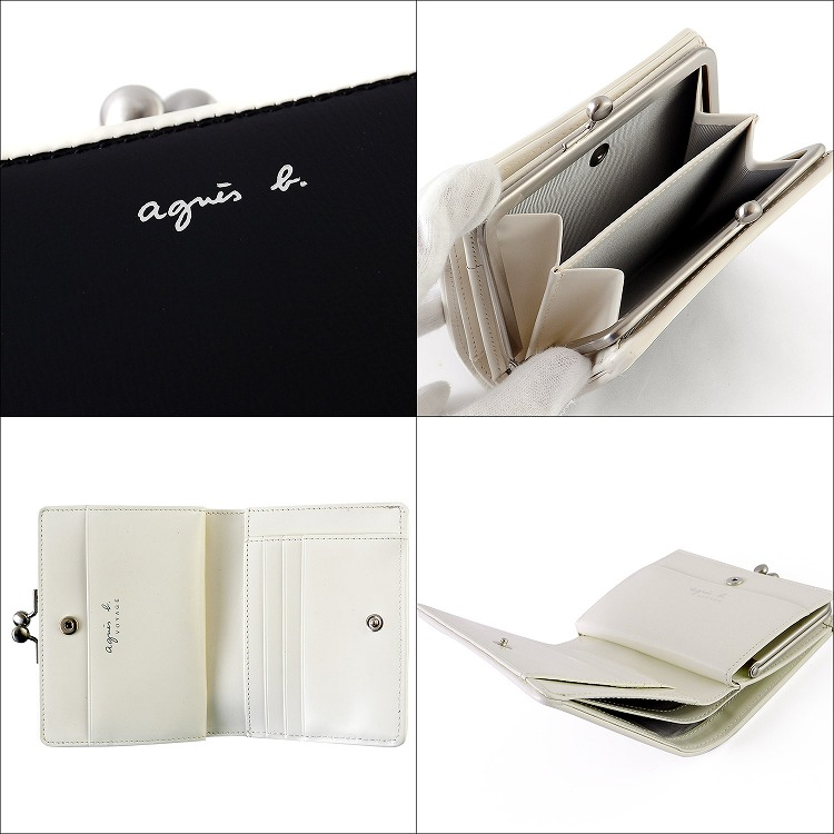 separation shoes 0073b 65749 Hold a アニエスベーボヤージュ wallet pouch folio wallet name; logo EW04-01 [S] Respect  for the Aged Day