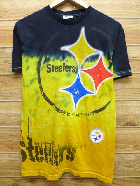 RUSHOUT  Old clothes T-shirt NFL Pittsburgh Steelers yellow yellow ... a2fad4f44
