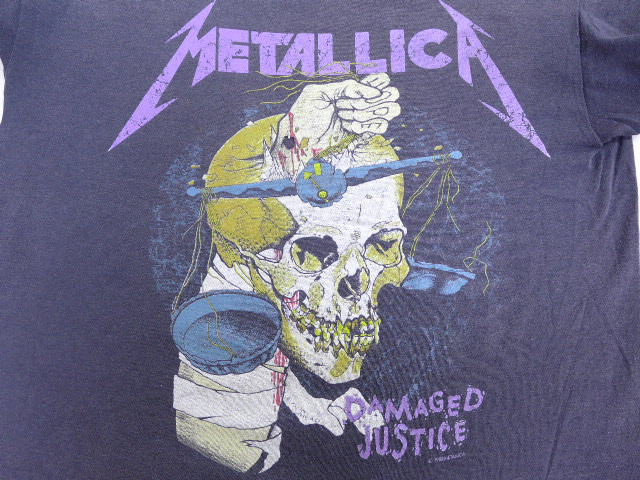 bbf4f1ef RUSHOUT: Old clothes vintage rock band T-shirt Metallica pass head ...